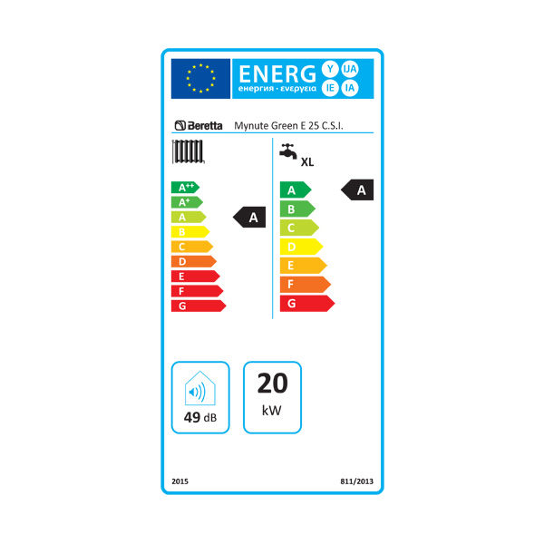etiqueta energetica beretta mynute green 25